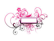 Vector text frame Royalty Free Stock Photography