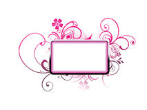 Vector text frame Royalty Free Stock Image