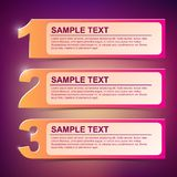 Vector text frame illustration 1-2-3 Stock Image