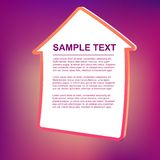 Vector text frame illustration - house. Abstract vector text frame illustration. background Stock Photography
