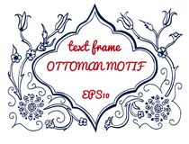 Vector text frame in ottoman style stock illustration