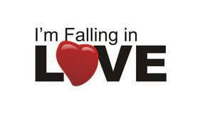 Vector text of i'm falling in love. White isolated vector text of i'm falling in love Royalty Free Stock Photography
