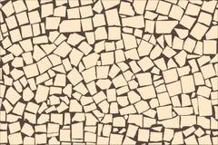 Vector a textura da parede decorativa assimétrica das telhas do marfim Fotografia de Stock
