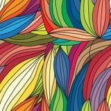 Vector a textura desenhado à mão abstrata das ondas, fundo ondulado cor Imagens de Stock