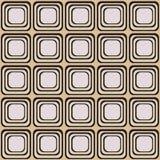 Vector a textura sem emenda com os quadrados arredondados que olham como a tevê velha ilustração do vetor
