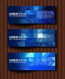 Vector textural banners in grunge style. Eps 10 Royalty Free Stock Image