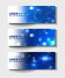 Vector textural banners in grunge style. Eps 10 Royalty Free Stock Photo