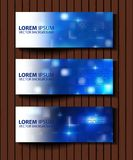 Vector textural banners in grunge style. Eps 10 Stock Image