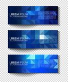 Vector textural banners in grunge style. Eps 10 Royalty Free Stock Photography