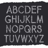 Vector textural font Stock Photo