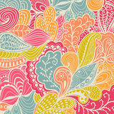 Vector texture with abstract flowers. Colorful background. Ethni Royalty Free Stock Photo