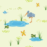 vector texture with animals and butterflies Royalty Free Stock Photos