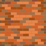 Vector texture background. Red brick wall vector texture vector. Freehand drawn vintage style. Decorative building bricklaying material illustration for design Royalty Free Stock Photography