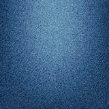 Vector Texture of blue jeans textile close up Stock Image