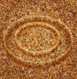 Vector texture (circles of sand) Royalty Free Stock Photo