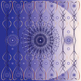 Vector texture with decorative flowers. And circles on shiny purple background  with ornaments Stock Image