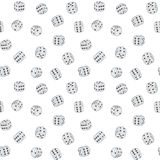 Vector texture - dices background. Vector seamless texture - dices on a white background eps8 Royalty Free Stock Photography