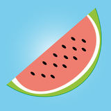 Vector texture icon of watermelon. Colorful illustration of half watermelon for background. A nice drawing of a watermelon icon Royalty Free Stock Images
