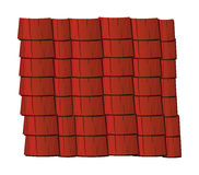 Vector texture illustration of red clay roof tiles, slate. Royalty Free Stock Images