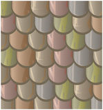 Vector texture illustration of Seamless  clay roof tiles, slate. Royalty Free Stock Photography