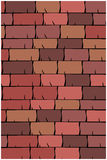 Vector texture illustration of Seamless red clay roof tiles, slate. Stock Photography