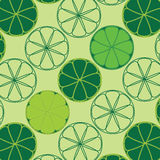 Vector texture with limes and lemons Royalty Free Stock Images