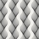 Vector texture. Modern abstract background. Monochrome pattern of lines woven into a braid. Pattern is on swatches panel stock illustration
