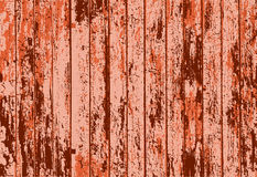 Vector texture of realistic orange rusted old painted wooden fence Stock Photo