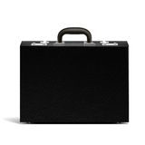 Vector textured black briefcase illustration Stock Image