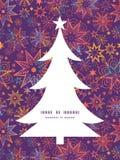 Vector textured christmas stars Christmas tree Royalty Free Stock Photo