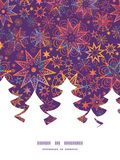 Vector textured christmas stars Christmas tree Stock Photo