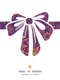 Vector textured christmas stars gift bow Royalty Free Stock Image