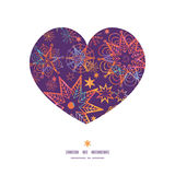 Vector textured christmas stars heart silhouette Royalty Free Stock Photography