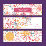 Vector textured christmas stars horizontal banners Royalty Free Stock Photography