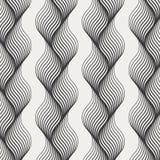 Vector textuur Moderne abstracte achtergrond Zwart-wit die patroon van lijnen in een vlecht worden geweven stock illustratie