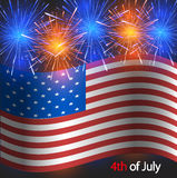Vector 4th of july background. Independence Day Royalty Free Stock Image