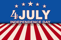 Vector 4th of July background with stars and stripes. Template for USA Independence Day. Stock Photo