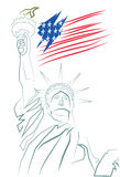 Vector 4th of July concept art Royalty Free Stock Photography