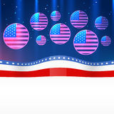 Vector 4th of july design Royalty Free Stock Photography