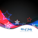 Vector 4th of july design Stock Image