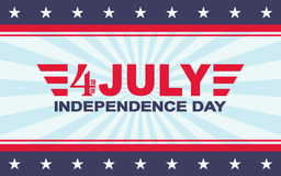 Vector 4th of July festive design. Independence Day background. Template for USA Independence Day. Royalty Free Stock Photos