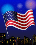 Vector 4th of july Happy Independence Day Royalty Free Stock Image