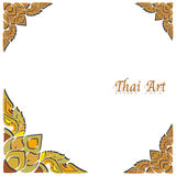 Vector Thai art frame Royalty Free Stock Photo
