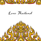 Vector thai floral decorative ornament Royalty Free Stock Images