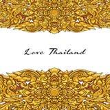 Vector thai floral decorative ornament. EPS Stock Photo