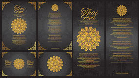 Vector thai food restaurant menu template.thai tradition stock photography