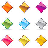Vector Thai Glossy Button Icon sample Royalty Free Stock Photo