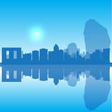 Vector Thailand silhouette skyline Royalty Free Stock Images