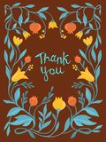 Vector thank you card in flat style Stock Photography