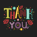 Vector Thank you card with hand drawn lettering Royalty Free Stock Photography